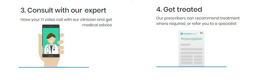 how to consult online doctor step 3 and 4