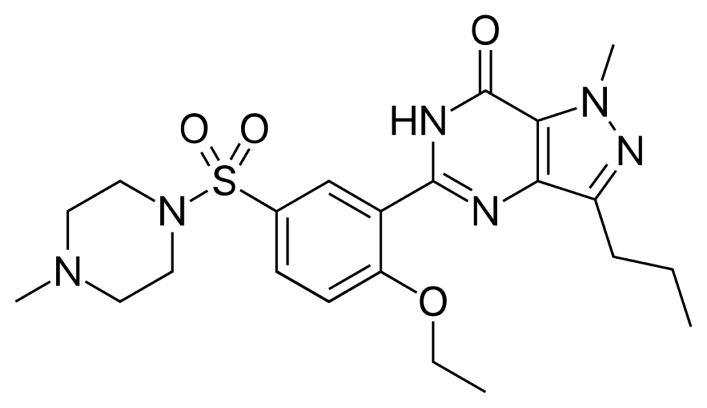 structure de viagra