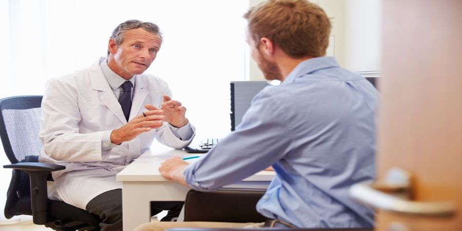 doctor advising about who can and who can not take cialis
