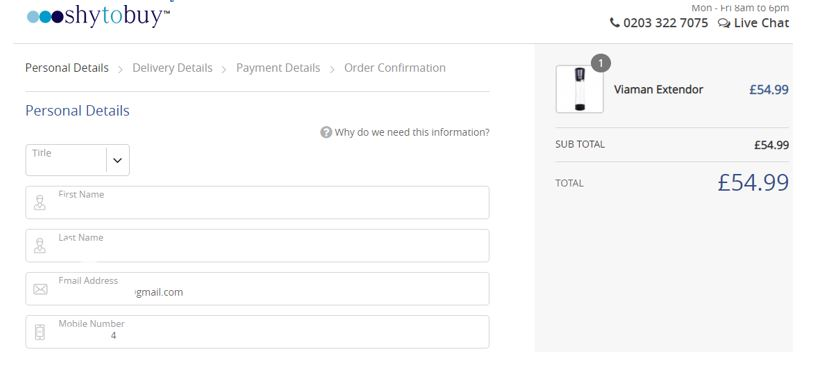 how to place order at shy2buy