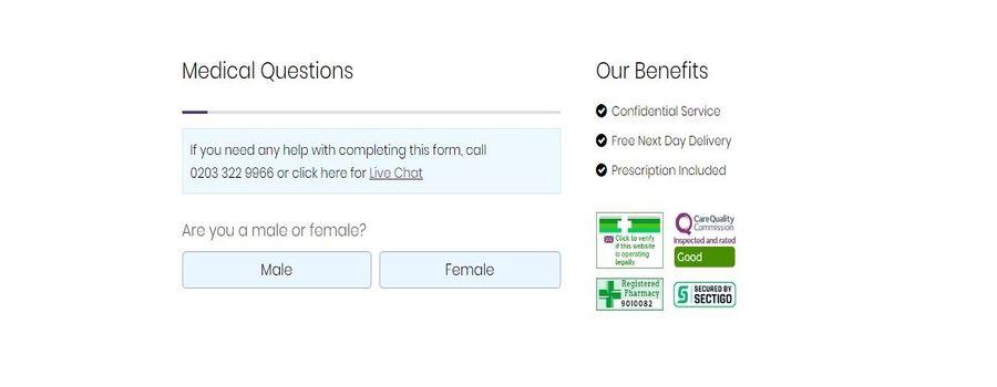 medical questions form