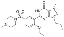Here you can see the chemical Viagra structure.